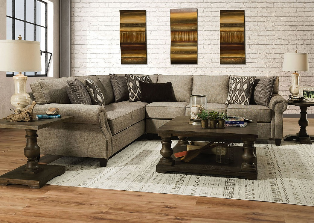 American Design Furniture By Monroe Stationary Sectionals