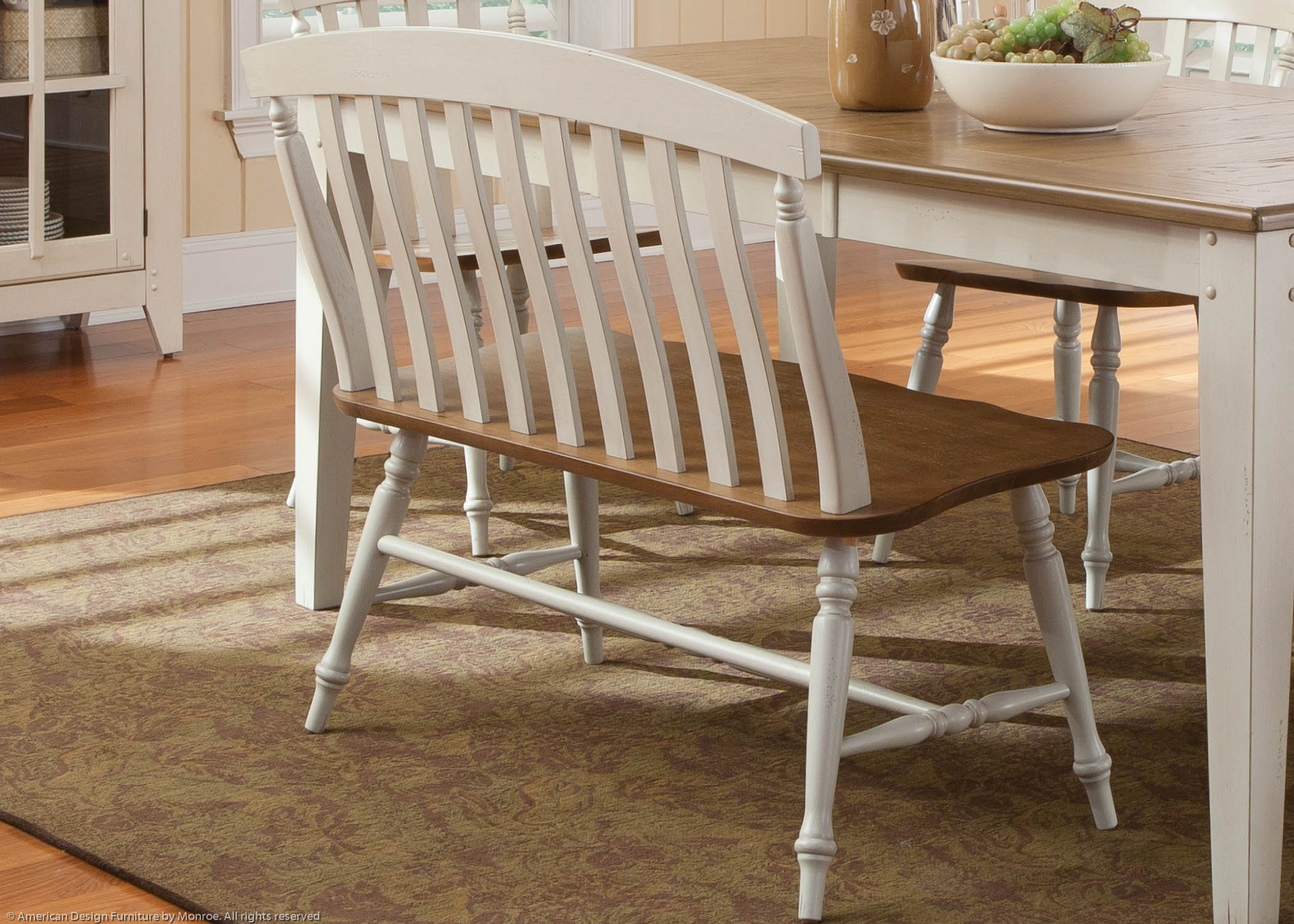 Astonishing Bayside Casual Dining Bench Inzonedesignstudio Interior Chair Design Inzonedesignstudiocom