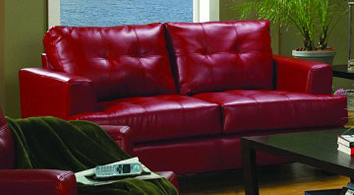 New Orleans Red Love Seat