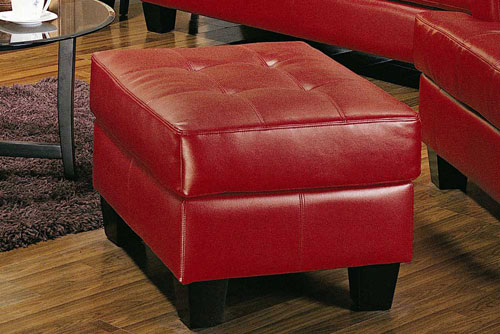 New Orleans Red Ottoman