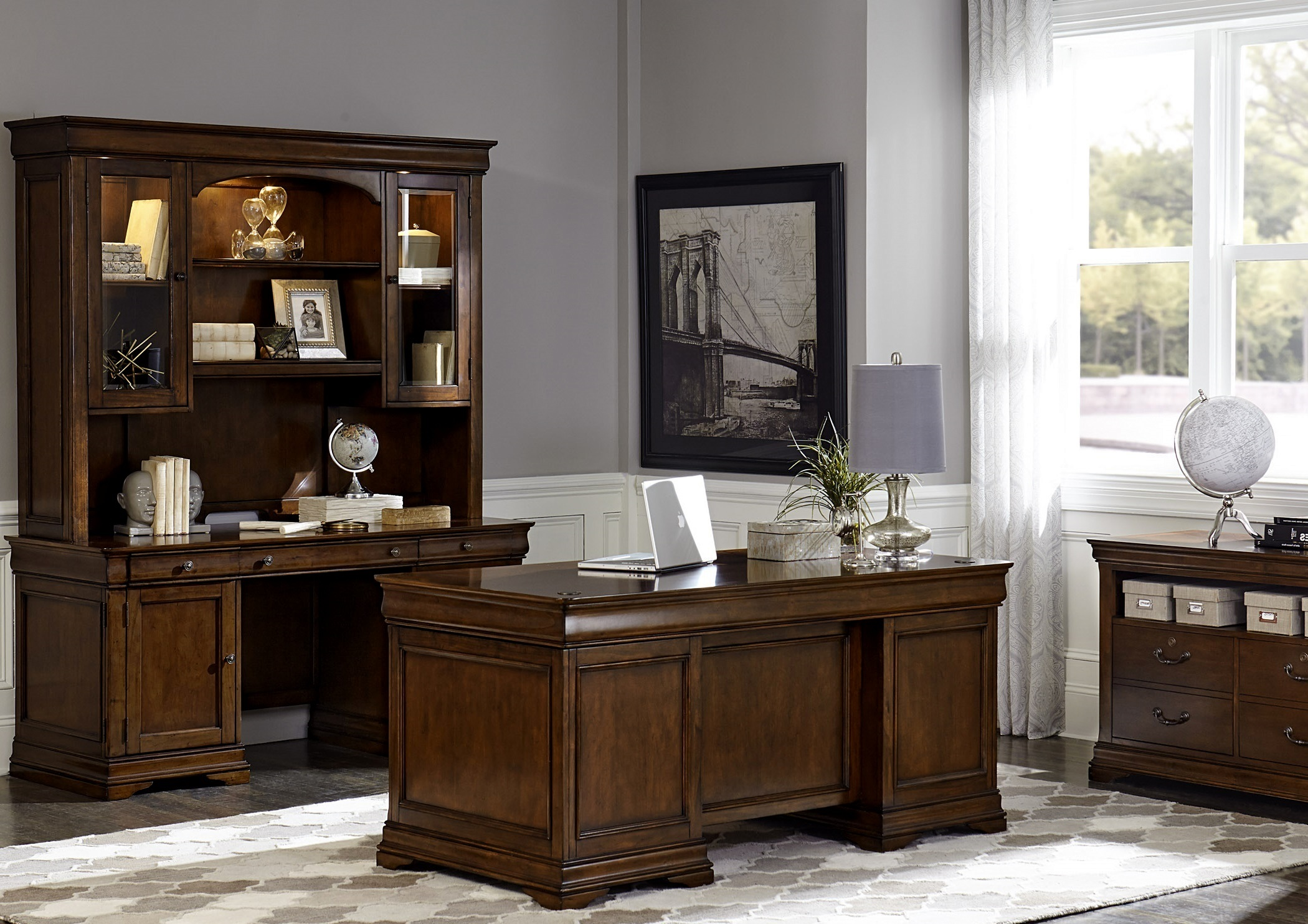 Lafayette Cherry Wood Home Office Collection